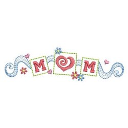 Happy Mother's Day embroidery design