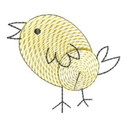 Finger Print Bird embroidery design