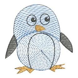 Finger Print Penguin embroidery design
