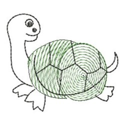 Finger Print Turtle embroidery design