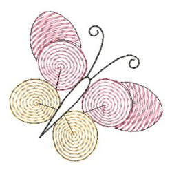 Finger Print Butterfly embroidery design