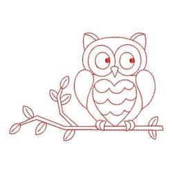 Redwork Owl embroidery design