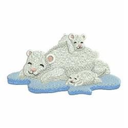 Mama Polar Bear & Cubs embroidery design