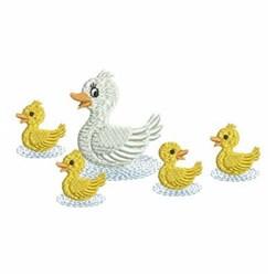 Mama Goose & Goslings embroidery design