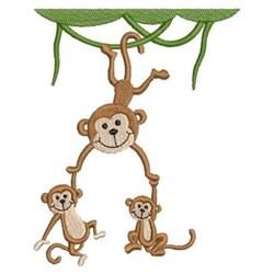 Mama Monkey & Babies embroidery design