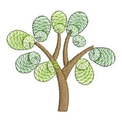 Finger Print Tree embroidery design