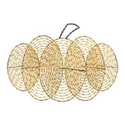 Finger Print Pumpkin embroidery design