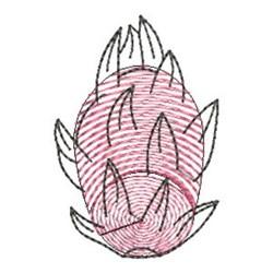 Finger Print Dragonfruit embroidery design