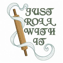 Kitchen Rolling Pin embroidery design