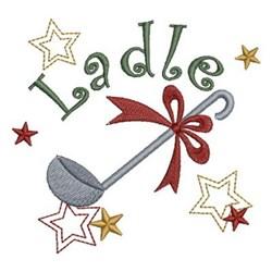 Kitchen Ladle embroidery design