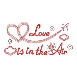 Redwork Love In the Air embroidery design