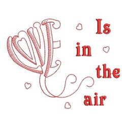 Redwork Air Of Love embroidery design