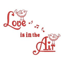 Redwork Birds In Love embroidery design