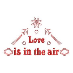Redwork Traveling Love embroidery design