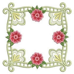 Quilt Block Roses embroidery design