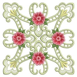 Heirloom Roses Block embroidery design