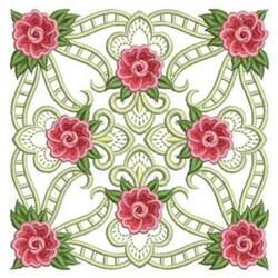 Rose Quilt Block embroidery design