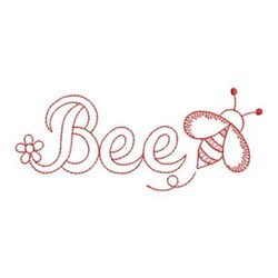 Redwork Spring Bumblebee embroidery design