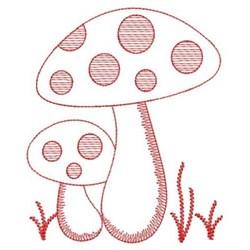 Redwork Spring Toadstools embroidery design