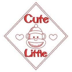 Redwork Cute Little Monkey embroidery design