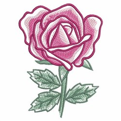 Watercolor Blooming Rose embroidery design