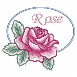 Watercolor Rose Sign embroidery design