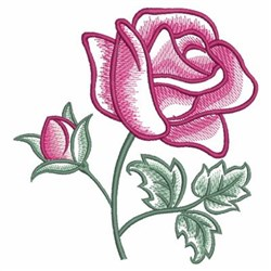 Watercolor Roses embroidery design