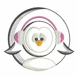 Vintage Christmas Penguin embroidery design
