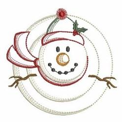 Vintage Christmas Snowman embroidery design