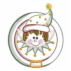 Vintage Christmas Elf embroidery design