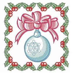 Christmas Ornament & Holly embroidery design