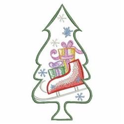 Christmas Tree & Sleigh embroidery design