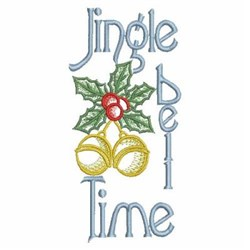 Jingle Bell Time embroidery design