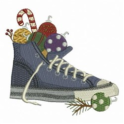 Christmas Sneaker embroidery design