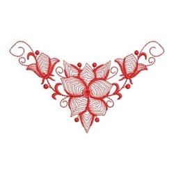 Redwork Bluebells Swag embroidery design