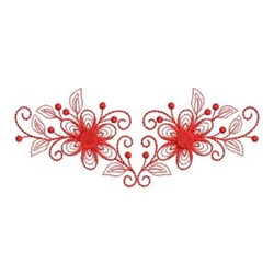 Redwork Flower Border embroidery design