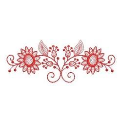 Redwork Sunflower Border embroidery design