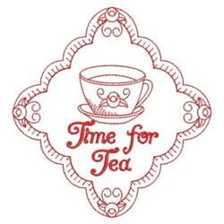 Redwork Tea Time Diamond embroidery design
