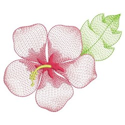 Rippled Summer Hibiscus embroidery design