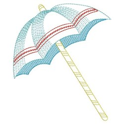 Hello Summer Umbrella embroidery design