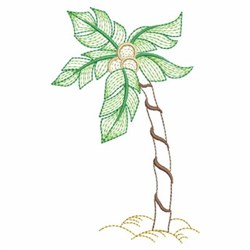 Rippled Summer Palm Tree embroidery design