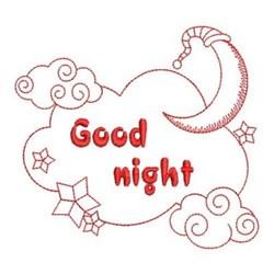 Redwork Good Night Sky embroidery design