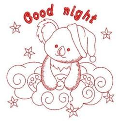 Redwork Good Night Koala embroidery design