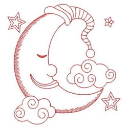 Redwork Good Night Moon embroidery design
