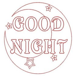 Redwork Good Night Moon embroidery design