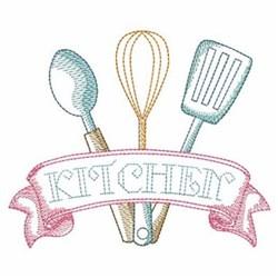 Sketched Kitchen Utensils embroidery design