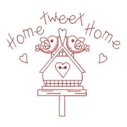 Redwork Birdhouse embroidery design