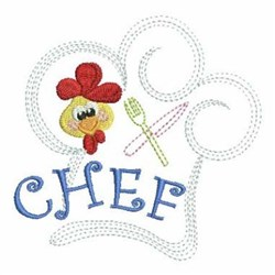 Rooster Chefs Heat embroidery design