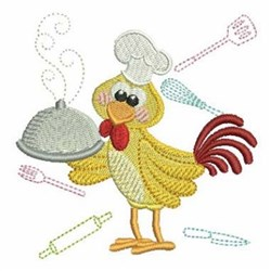 Rooster Chef embroidery design