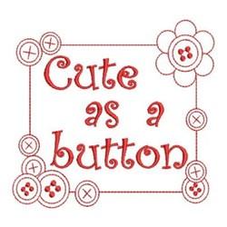 Redwork Button Frame embroidery design